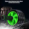 Three-wheel Abdominal Roller Wheel for Home Gym Exercises - BLACK AND GREEN