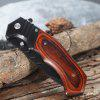 PA83 Browning Pocket Knife with Liner Lock Wooden Handle - COLORMIX