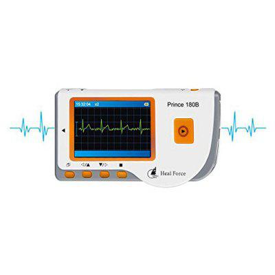 Heal Force Portable Prince 180B Handheld ECG MonitorMonitoring &amp; Testing<br>Heal Force Portable Prince 180B Handheld ECG Monitor<br><br>CMRR: More than or equal to 60dB<br>Heart Rate Range: 30 - 240bpm<br>Internal Noise Level: Less than or equal to 30uVp-p<br>Package Contents: 1 x Heal Force Prince 180B ECG Monitor, 1 x English User Manual, 1 x Heal Force Prince 180B ECG Monitor, 1 x English User Manual<br>Package size (L x W x H): 16.00 x 11.00 x 6.00 cm / 6.3 x 4.33 x 2.36 inches<br>Package weight: 0.2950 kg<br>Product size (L x W x H): 21.50 x 12.50 x 6.50 cm / 8.46 x 4.92 x 2.56 inches<br>Product weight: 0.1100 kg