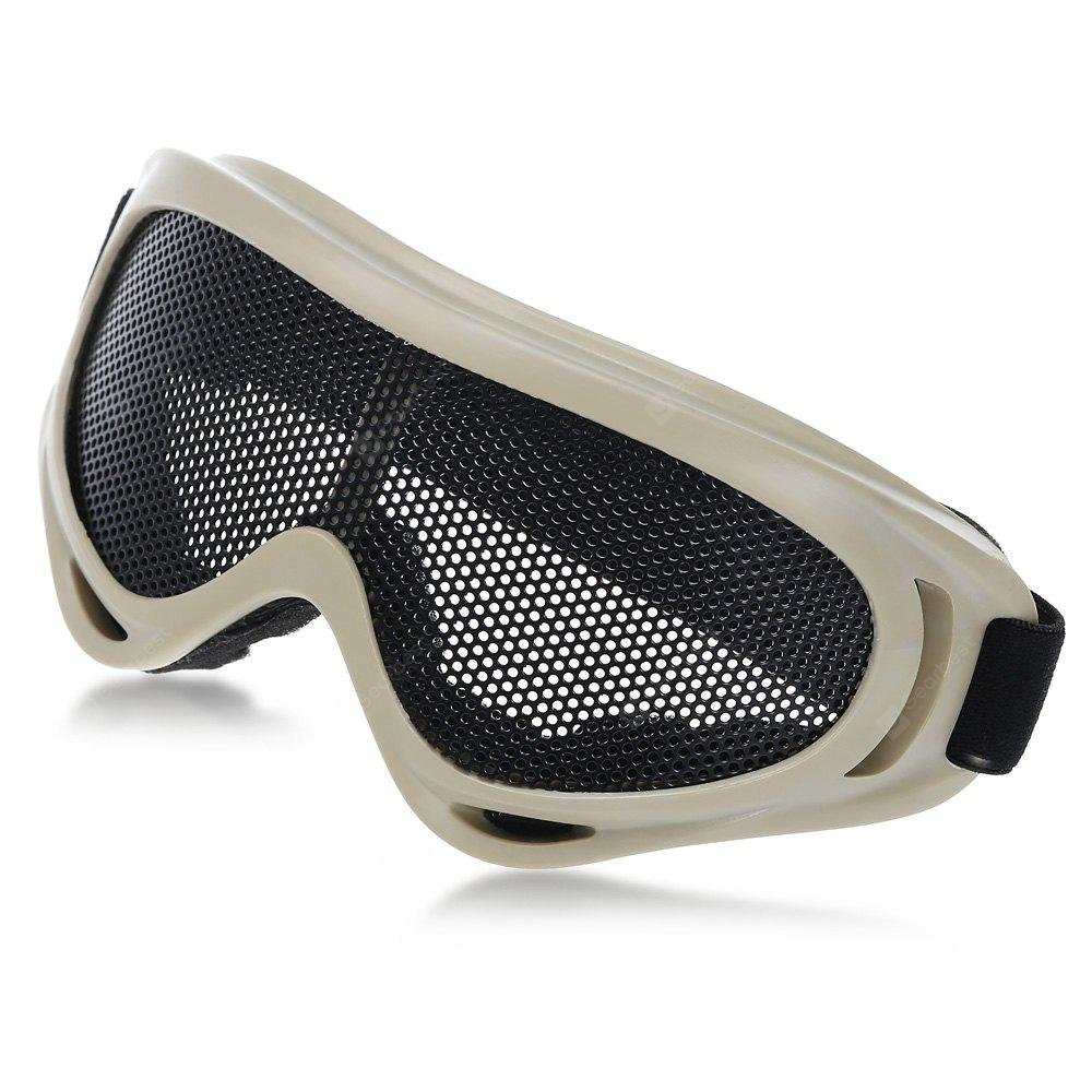 Shock-resistant Protective Glasses Eyewear with Metal Net Lens