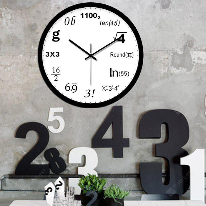 Creative Geek Math Number Wall Clock