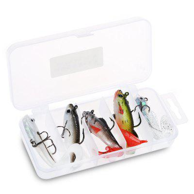 5pcs Soft Fishing Bait Lure with Lead Sinker / Barbed Hook