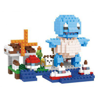 Anime Figure Style ABS Cartoon Building Brick - 375pcs