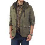 Jeep Rich Hooded Jacket M PEA GREEN