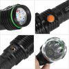 UltraFire UF - D08 LED Rechargeable Flashlight - BLACK