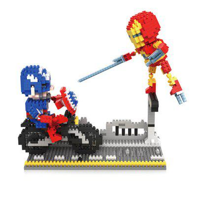 Anime Figure Style ABS Cartoon Building Brick - 692pcs