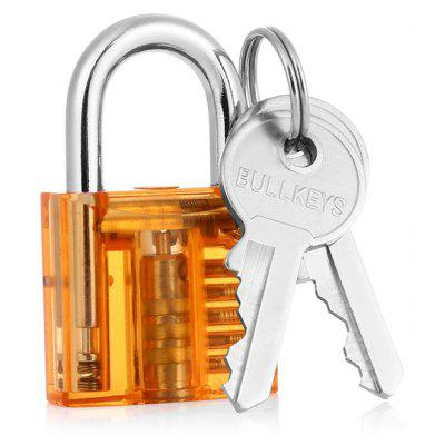 Mini Professional Transparent Practice Padlock Training Tools Set with Broken Key Extractor