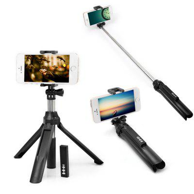 Portable Bluetooth 4.0 Camera Selfie Monopod for iPhone X  -  BLACK