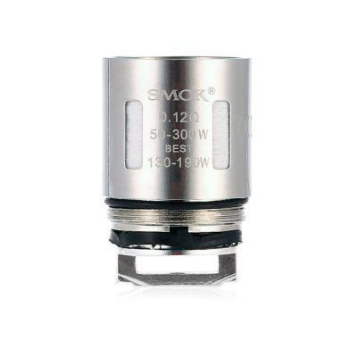 Smok V8 T10 0.12 ohm Decuple Coil ( 3pcs )Accessories<br>Smok V8 T10 0.12 ohm Decuple Coil ( 3pcs )<br><br>Accessories type: Coils<br>Brand: SMOK<br>Material: Fabric, Kanthal, Stainless Steel<br>Package Contents: 3 x Smok V8 T10 0.12 ohm Decuple Coil for Smok TFV8 Cloud Beast Tank Atomizer<br>Package size (L x W x H): 12.00 x 6.80 x 2.40 cm / 4.72 x 2.68 x 0.94 inches<br>Package weight: 0.0810 kg<br>Product size (L x W x H): 1.80 x 1.80 x 2.80 cm / 0.71 x 0.71 x 1.1 inches<br>Product weight: 0.0150 kg<br>Resistance: 0.12 ohm<br>Type: Electronic Cigarettes Accessories
