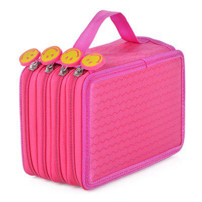 72 Hole Pen Case Stationery Storage Bag  4 Layer