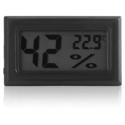 Mini Digital LCD Indoor Thermometer Hygrometer - BLACK from Gearbest Image