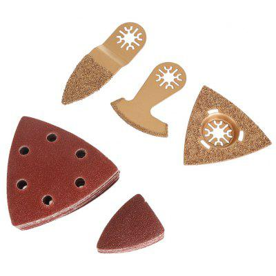 5PCS Universal Carbide Saw Blade / Triangle Hook Sanding Sheet Abrasive Paper for Wood / Plastic