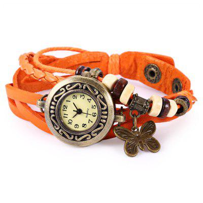Retro Style Lady Quartz Watch Woven BraceletWomens Watches<br>Retro Style Lady Quartz Watch Woven Bracelet<br><br>Available Color: Black,Blue,Brown,Green,Orange,Purple,White<br>Band material: PU Leather<br>Case material: Alloy<br>Clasp type: Buckle<br>Display type: Analog<br>Movement type: Quartz watch<br>Package Contents: 1 x Retro Style Lady Quartz Watch Woven Bracelet<br>Package size (L x W x H): 22.00 x 3.70 x 1.70 cm / 8.66 x 1.46 x 0.67 inches<br>Package weight: 0.062 kg<br>Product size (L x W x H): 21.00 x 2.70 x 0.70 cm / 8.27 x 1.06 x 0.28 inches<br>Product weight: 0.022 kg<br>Shape of the dial: Special<br>Watch style: Retro<br>Watches categories: Female table