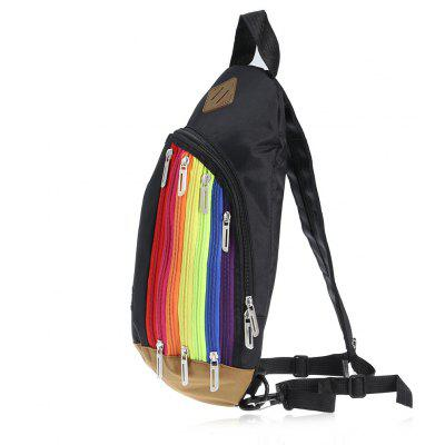 Rainbow Nylon 3.5L Leisure Backpack Sling Bag