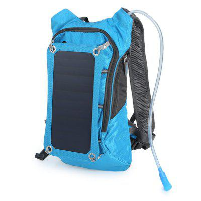 Compact Nylon 10L Solar Backpack Bag with 2L Water Bag