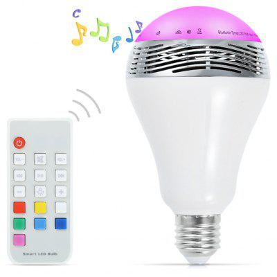 E27 Bluetooth Speaker LED Light Bulb with Remote Controller