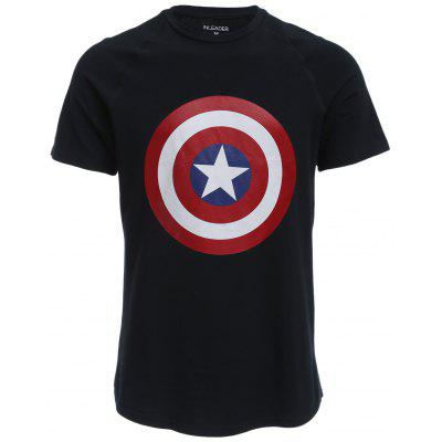 Short Sleeve Captain America T Shirt