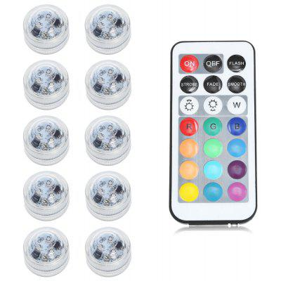 10pcs Remote Control Waterproof LED Tea Light RGB COLOR