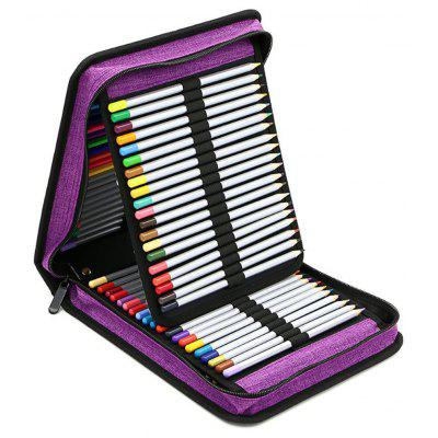 Portable 120 Hole Pencil Bag Folding Pen Case