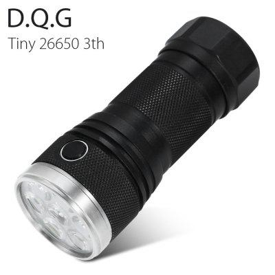 DQG Tiny 26650 3th LED Flashlight Torch