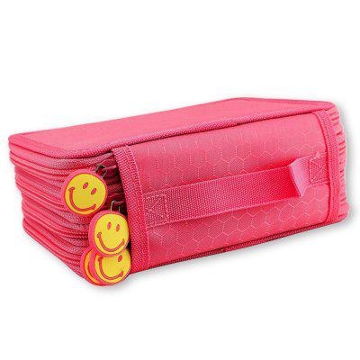 52 Hole Pen Case Stationery Storage Bag 3 Layer