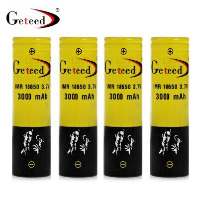 4pcs Geteed IMR18650 - 3040 18650 Li-ion Battery