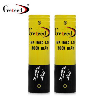 2pcs Geteed IMR18650 - 3040 18650 Li-ion Battery