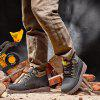 Water-resistant Genuine Leather Fleece Lined Hiking Boots - BLACK
