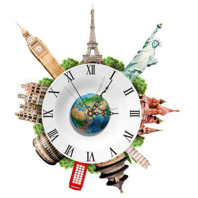 SZ - 020 3D Creative Wall Clock Removable Wallpaper Sticker