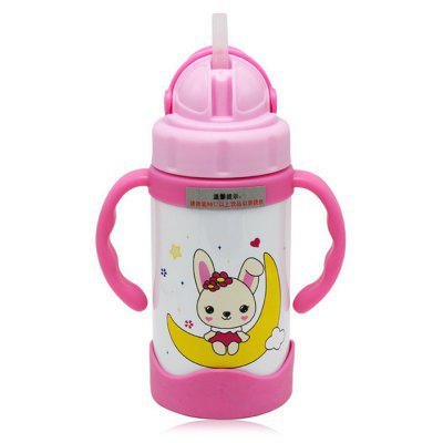 bobei elephant Cute Baby Infant 300ml Straw Bottle
