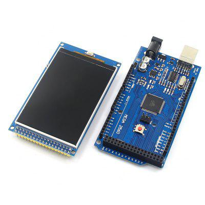 Arduino Mega 2560 R3 Development Board + 3.2 inch TFT IPS LCD ( 480 x 320 262K Color Full - Angle ) Kit