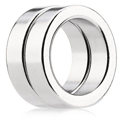19 x 19 x 5mm N52 Strong NdFeB Ring Style Magnet - 2pcs / set