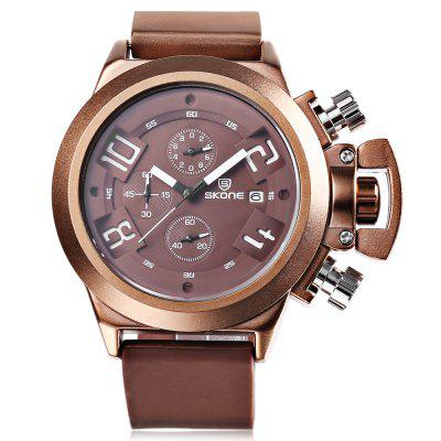 SKONE 5143EG Men Quartz WatchMens Watches<br>SKONE 5143EG Men Quartz Watch<br><br>Available Color: Black,Coffee<br>Band material: Silicone<br>Band size: 25.5 x 2.3 cm / 10.04 x 0.91 inches<br>Brand: Skone<br>Case material: Alloy<br>Clasp type: Pin buckle<br>Dial size: 4.5 x 4.5 x 1.4 cm / 1.77 x 1.77 x 0.55 inches<br>Display type: Analog<br>Movement type: Quartz watch<br>Package Contents: 1 x SKONE 5143EG Men Quartz Watch, 1 x Box<br>Package size (L x W x H): 10.00 x 7.50 x 6.50 cm / 3.94 x 2.95 x 2.56 inches<br>Package weight: 0.239 kg<br>Product size (L x W x H): 25.50 x 4.50 x 1.40 cm / 10.04 x 1.77 x 0.55 inches<br>Product weight: 0.124 kg<br>Shape of the dial: Round<br>Watch style: Casual, Fashion<br>Watches categories: Male table<br>Water resistance: Life water resistant<br>Wearable length: 18.3 - 23.2 cm / 7.20 - 9.13 inches