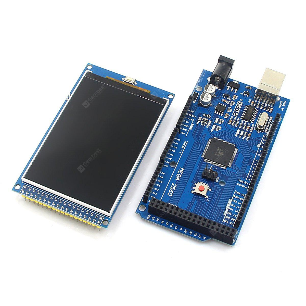 Cool Electronic Toys >> Arduino Mega 2560 R3 Development Board + 3.2 inch TFT IPS LCD ( 480 x 320 262K Color Full ...