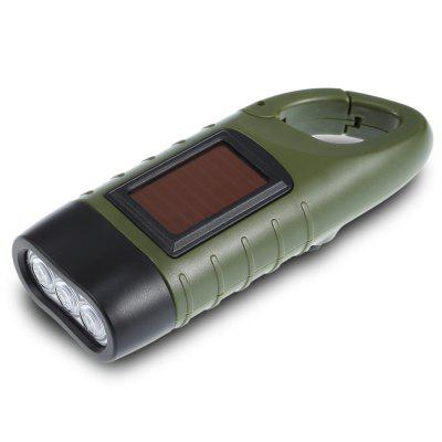 Hand Cranking Solar LED No Battery Flashlight