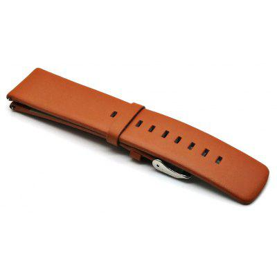 Buy BROWN 22mm Genuine Leather Wristband for $5.15 in GearBest store
