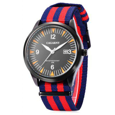 CAGARNY 6859 Canvas Strap Unisex Quartz Watch