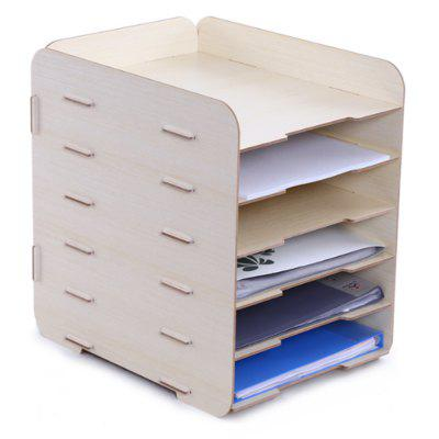 DZOFFICE Desktop Multifunctional Wood File Box