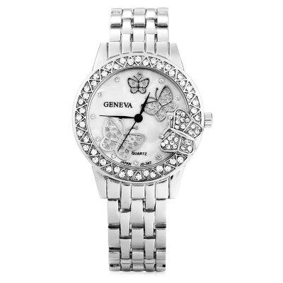 GENEVA JD - 367 Fashion Rhinestone Dial Lady Quartz WatchWomens Watches<br>GENEVA JD - 367 Fashion Rhinestone Dial Lady Quartz Watch<br><br>Available Color: Gold,Rose Gold,Silver<br>Band material: Alloys<br>Band size: 21 x 1.7 cm / 8.27 x 0.67 inches<br>Brand: Geneva<br>Case material: Alloy<br>Clasp type: Folding clasp with safety<br>Dial size: 3.8 x 3.8 x 0.9 cm / 1.50 x 1.50 x 0.35 inches<br>Display type: Analog<br>Movement type: Quartz watch<br>Package Contents: 1 x GENEVA JD - 367 Fashion Lady Quartz Watch<br>Package size (L x W x H): 12.00 x 4.80 x 1.90 cm / 4.72 x 1.89 x 0.75 inches<br>Package weight: 0.130 kg<br>Product size (L x W x H): 21.00 x 3.80 x 0.90 cm / 8.27 x 1.5 x 0.35 inches<br>Product weight: 0.090 kg<br>Shape of the dial: Round<br>Watch style: Fashion<br>Watches categories: Female table