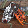 3Cr13Mov Tactical Fixed Blade Folding Claw Knife - ORANGE
