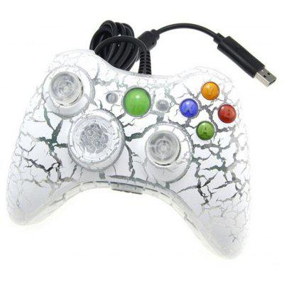 Buy WHITE Crackle Style Wired Gamepad Controller for PC XBOX 360 for $19.43 in GearBest store
