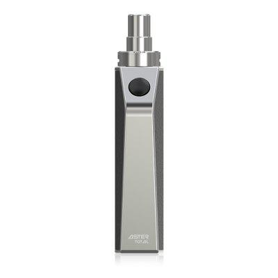 Original Eleaf ASTER Total with 1 - 25W for E CigaretteMod kits<br>Original Eleaf ASTER Total with 1 - 25W for E Cigarette<br><br>APV Mod Wattage: 25W<br>APV Mod Wattage Range: 21-30W<br>Atomizer Capacity: 3.2ml<br>Atomizer Resistance: 1.1 ohm<br>Atomizer Type: Clearomizer, Tank Atomizer<br>Available Color: Black,Silver<br>Battery Capacity: 1600mAh<br>Brand: Eleaf<br>Connection Threading of Atomizer: 510<br>Material: Zinc Alloy<br>Mod Type: VV/VW Mod<br>Model: ASTER Total<br>Package Contents: 1 ? ASTER Total, 2 ? IC 1.1 ohm Head, 2 x Sticker, 1 ? USB Cable, 1 ? Enlish User Manual<br>Package size (L x W x H): 15.00 x 4.80 x 3.90 cm / 5.91 x 1.89 x 1.54 inches<br>Package weight: 0.3500 kg<br>Product size (L x W x H): 11.60 x 3.70 x 2.35 cm / 4.57 x 1.46 x 0.93 inches<br>Product weight: 0.2680 kg