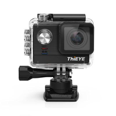 ThiEYE T5e WiFi 4K 30fps Sport Camera 12MPAction Cameras<br>ThiEYE T5e WiFi 4K 30fps Sport Camera 12MP<br><br>Aerial Photography: Yes<br>Anti-shake: Yes<br>Application: Extreme Sports, Ski, Underwater<br>Audio System: Monophony<br>Auto Focusing: Yes<br>Battery Capacity (mAh): 1100mAh<br>Battery Type: Built-in<br>Brand: ThiEYE<br>Camera Pixel: 12MP<br>Camera Timer: Yes<br>Charge way: USB charge by PC<br>Charging Time: 2h<br>Chipset: Ambarella A12LS75<br>Chipset Name: Ambarella<br>Exposure Compensation: +2EV,-2EV<br>Features: Wireless<br>Function: Auto Focusing, Loop-cycle Recording, Time Lapse, WiFi, Waterproof, Camera Timer, Anti-Shake<br>Image Format: JPEG<br>Interface Type: HDMI, USB 2.0<br>Language: Arabic,Dutch,French,German,Indonesian,Italian,Japanese,Korean,Polski,Portuguese,Russian,Simplified Chinese,Spanish,Swedish,Traditional Chinese<br>Lens Diameter: 2.8mm<br>Loop-cycle Recording: Yes<br>Loop-cycle Recording Time: 1min,2min,3min,5min<br>Max External Card Supported: SDHC 64G (not included)<br>Microphone: External<br>Model: T5e<br>Night vision: No<br>Package Contents: 1 x T5e Action Camera, 1 x Multi-language User Manual, 1 x Wiper, 1 x USB Cable, 1 x Pack of Accessories, 1 x Waterproof Case?1 x Additional Skeleton Backdoor<br>Package size (L x W x H): 17.00 x 11.00 x 6.00 cm / 6.69 x 4.33 x 2.36 inches<br>Package weight: 0.4210 kg<br>Product size (L x W x H): 6.00 x 4.00 x 3.00 cm / 2.36 x 1.57 x 1.18 inches<br>Product weight: 0.0580 kg<br>Remote Control: Yes<br>Screen: With Screen<br>Screen resolution: 320x240<br>Screen size: 2.0inch<br>Screen type: TFT<br>Sensor: CMOS<br>Sensor size (inch): 1/2.3<br>Standby time: 4h<br>Time lapse: Yes<br>Type: Sports Camera<br>Type of Camera: 4K<br>Video format: MP4<br>Video Frame Rate: 100fps,200fps,30FPS,60FPS<br>Video Resolution: 1080P (100fps),1080P(30fps),1080P(60fps),1440P (30fps),1440P (60fps),4K (30fps),720P(200fps)<br>Waterproof: Yes<br>Waterproof Rating: IP68 ( 60m, with waterproof case )<br>White Balance Mode: Daylight, Auto, Cloudy, Incandescent<br>Wide Angle: 170 degree wide angle<br>WIFI: Yes<br>WiFi Distance: 10m<br>WiFi Function: Image Transmission,Remote Control,Sync and Sharing Albums<br>Working Time: 80min at 4K / 30fps, 100min at 1080P
