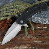 SR632A Pocket Folding Pocket Knife with Liner Lock - BLACK