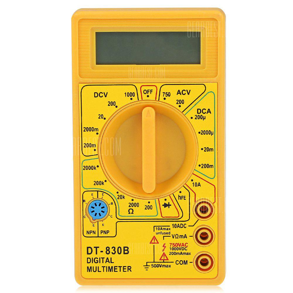 DT - 830B 1999 Digitaler Multimeter Handheld AC / DC Tester