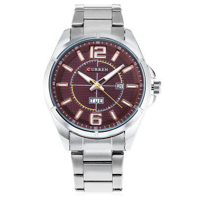 CURREN 8271 Men Quartz WatchMens Watches<br>CURREN 8271 Men Quartz Watch<br><br>Band material: Stainless Steel<br>Band size: 23 x 2 cm / 9.06 x 0.79 inches<br>Brand: Curren<br>Case material: Stainless Steel<br>Clasp type: Folding clasp with safety<br>Dial size: 4 x 4 x 1.2 cm / 1.57 x 1.57 x 0.47 inches<br>Display type: Analog<br>Movement type: Quartz watch<br>Package Contents: 1 x CURREN 8271 Men Quartz Watch<br>Package size (L x W x H): 12.00 x 5.00 x 2.20 cm / 4.72 x 1.97 x 0.87 inches<br>Package weight: 0.2500 kg<br>Product size (L x W x H): 23.00 x 4.00 x 1.20 cm / 9.06 x 1.57 x 0.47 inches<br>Product weight: 0.1180 kg<br>Shape of the dial: Round<br>Special features: Day, Date<br>Watch style: Business<br>Watches categories: Male table<br>Water resistance: Life water resistant