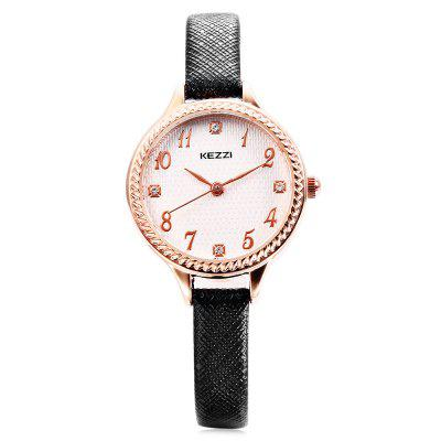 KEZZI K - 1620 Lady Quartz WatchWomens Watches<br>KEZZI K - 1620 Lady Quartz Watch<br><br>Band material: PU Leather<br>Band size: 21.8 x 0.8 cm / 8.58 x 0.31 inches<br>Brand: Kezzi<br>Case material: Alloy<br>Clasp type: Pin buckle<br>Dial size: 2.6 x 2.6 x 0.8 cm / 1.02 x 1.02 x 0.31 inches<br>Display type: Analog<br>Movement type: Quartz watch<br>Package Contents: 1 x KEZZI K - 1620 Lady Quartz Watch<br>Package size (L x W x H): 22.80 x 3.60 x 1.80 cm / 8.98 x 1.42 x 0.71 inches<br>Package weight: 0.055 kg<br>Product size (L x W x H): 21.80 x 2.60 x 0.80 cm / 8.58 x 1.02 x 0.31 inches<br>Product weight: 0.015 kg<br>Shape of the dial: Round<br>Watch color: Black, White, Pink, Blue, Light Gold, Wine Red<br>Watch style: Bracelet Style, Fashion<br>Watches categories: Female table<br>Wearable length: 15.3 - 19.6 cm / 6.02 - 7.72 inches