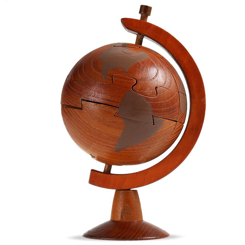 Earth Model Style Débloquer Puzzle Toy Wooden 3D Jigsaw
