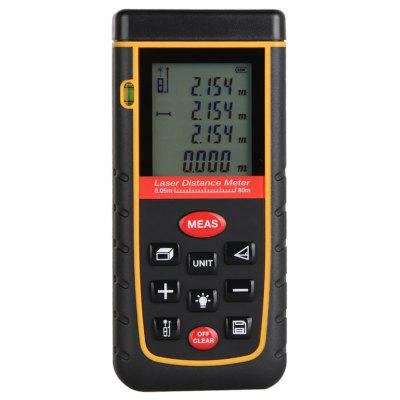 80M LCD Display Laser Distance Meter Digital Range Finder Laser fita métrica com nível de bolha