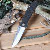 Tonife CKT6012 Folding Camping Knife - BLACK